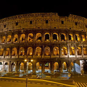 Colosseum by night by Sebastièn Petri - Buildings & Architecture Public & Historical ( colosseum, rome, night, historical, italy )