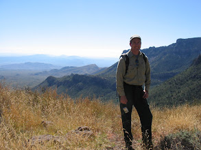 Photo: We were told to take the Lost Mine trail to the first pass, then turn up the ridge toward Casa Grande.