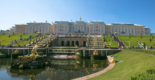 Peterhof-Palace-horizontal.jpg - Peterhof Palace, largely destroyed during WWII, has been restored to its former glory. See it on a cruise of St. Petersburg, Russia.