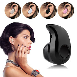 Mini casca Bluetooth 4.1, design picatura - Negru