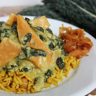Indian-Spiced Creamy Kale with Rutabaga Recipe