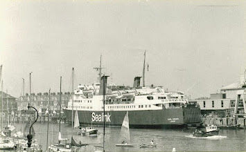 "Photo: ""Earl Godwin"" at Weymouth July 23, 1984 (Photo: A.M.S. Russell)"
