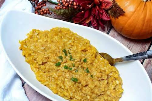 "Pumpkin Risotto""I love Italian cuisine, and one of my favorite dishes is..."
