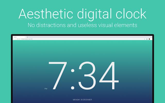 Clock Face: Digital clock for Google Chrome™