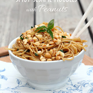 Spicy Sesame Noodles with Peanuts Recipe