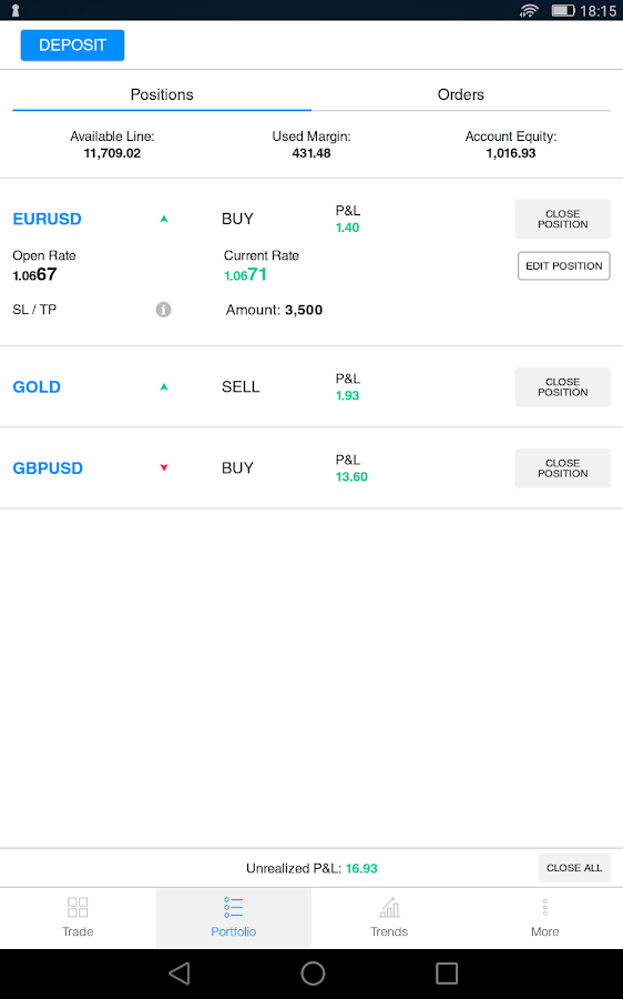 BForex- screenshot