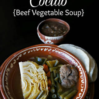 Cocido- Beef Vegetable Soup.