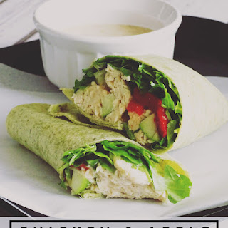 Chicken and Apple Caesar Salad Wrap