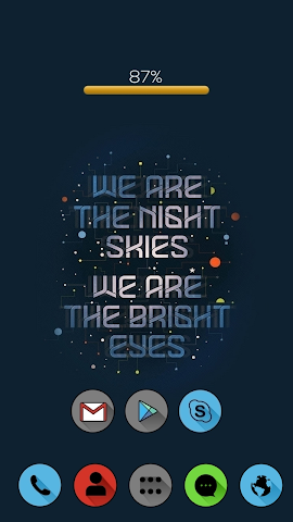 android Cool Words Theme Screenshot 2