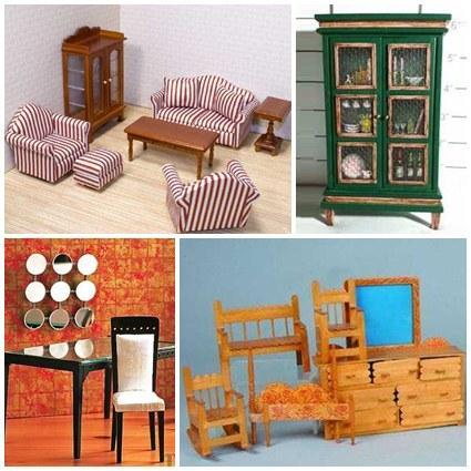 のドールハウスの家具のアイデア