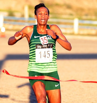 Ntombesintu Mfunzi wins the Nelson Mandela Bay Diva Run