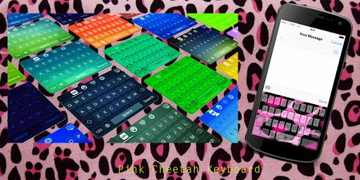 Pink Cheetah Keyboard