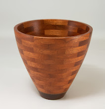 "Photo: Bob Grudberg 5 1/2"" x 6"" segmented bowl [mahogany]"