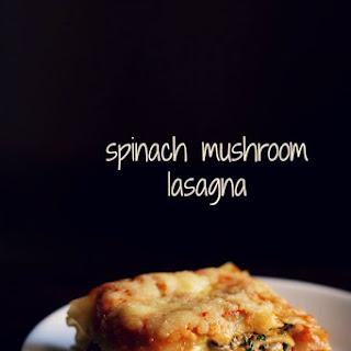 Spinach Mushroom Lasagna.