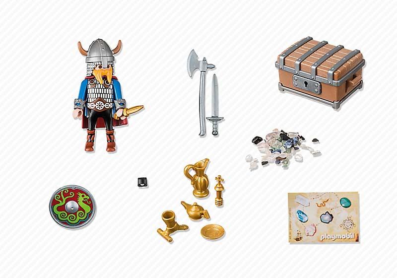 Contenido real de Playmobil® 5371 Vikingo con Tesoro