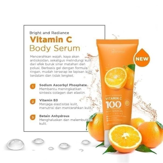 Vitamin C Body Serum Gel HANASUI mencerahkan kulit nyaman digunakan