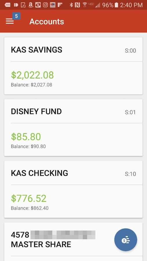 Family Savings CU Mobile- screenshot