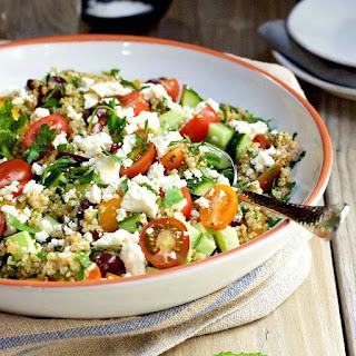 Tabouli Salad with Cucumber, Tomato, Feta, and Olives Recipe