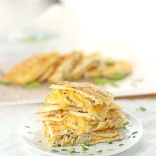Low Carb Chicken and Cheese Quesadillas {Gluten-Free, Keto-Friendly} Recipe