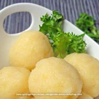 German Potato Dumplings.