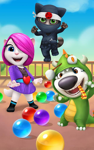 Talking Tom Bubble Shooter - screenshot