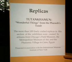 Photo: sign about the replicas