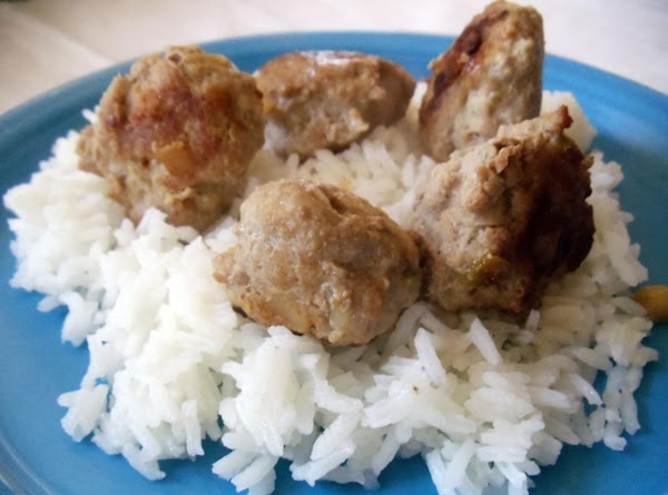 Chinese Meatballs With Sesame Rice Recipe