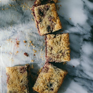 Blueberry Apple Crumble Bars.