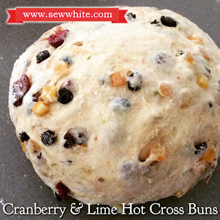 Cranberry and Lime Hot Cross Buns