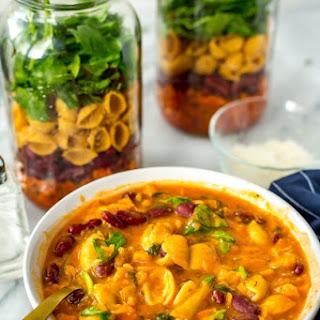 Mason Jar Minestrone Soup.