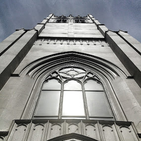Church in the metropolis by Karen Clemente - Instagram & Mobile iPhone ( church, window, glass, architecture, iphone )
