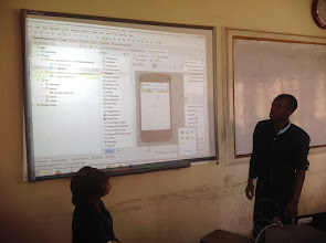 Photo: Awesome Android Team present their working prototype application