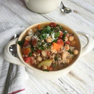 Smoky Kale Chickpea Farro Soup.