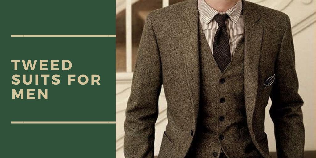 Tweed suits for men