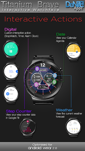 Titanium Brave HD WatchFace Widget Live Wallpaper 4.8.1 screenshots 9