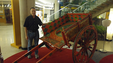 Photo: Back to our hotel ... me posing with a beautiful cart in the hotel lobby