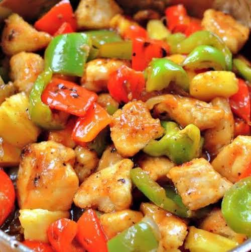 """Sweet and Sour Chicken """"This one skillet Sweet and Sour Chicken Recipe..."""