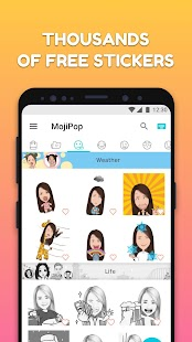 MojiPop - GIF Sticker Camera & Keyboard Screenshot