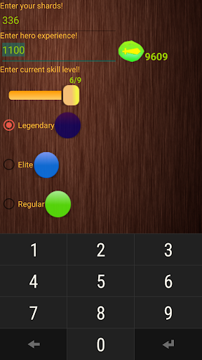 Shards calculator