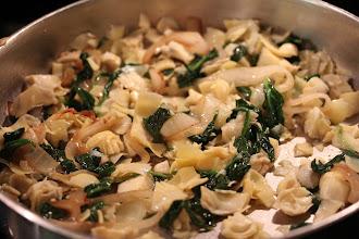 Photo: Caramelizing the onions