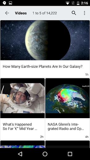 Screenshot 4 for NASA.gov's Android app'