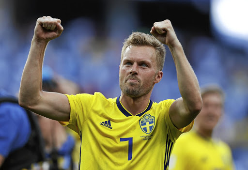 Psyched: Sweden's Sebastian Larsson says England are a quality team, but the Swedes will not be too worried when they meet on Saturday. Picture: REUTERS