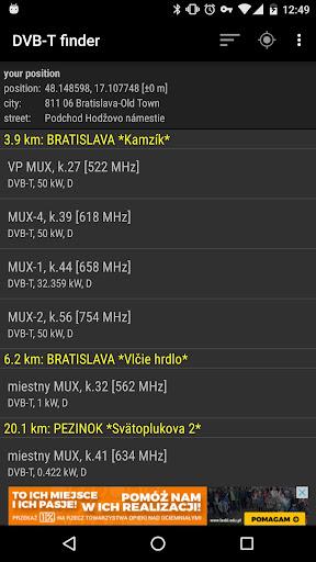 DVB-T finder 1.83 screenshots 1