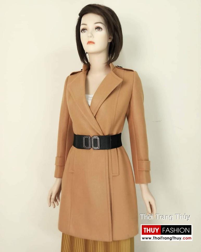 Áo khoác dạ nữ dáng dài màu lạc đà V653 Hải Phòng