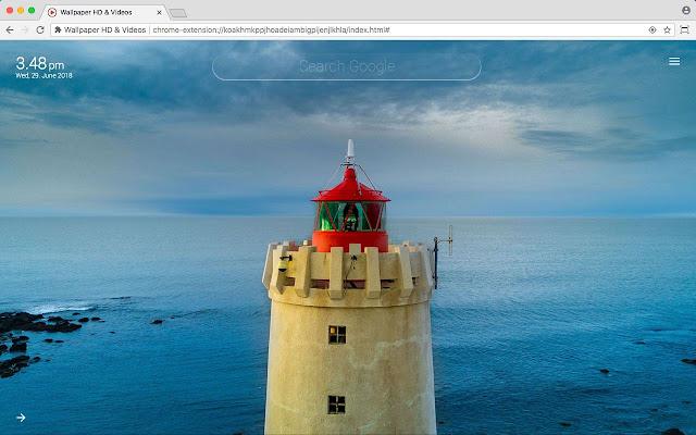 Lighthouse HD Wallpaper New Tab