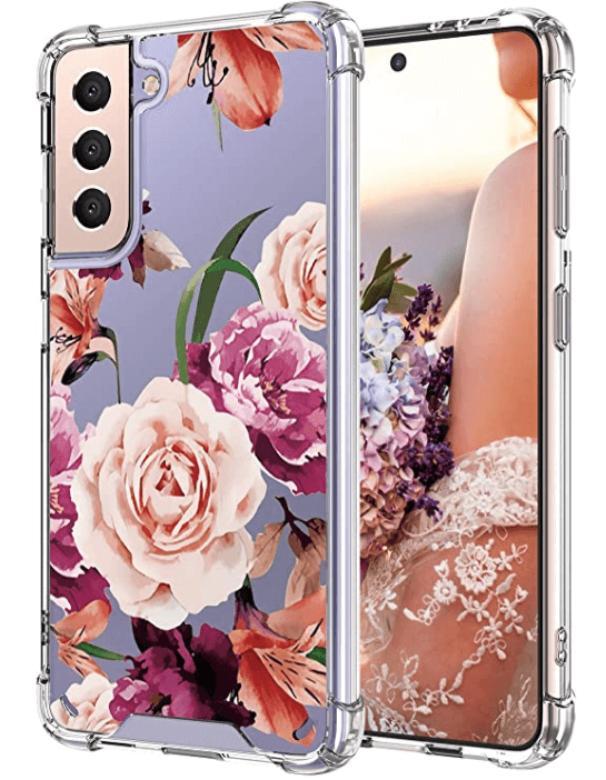 samsung galaxy s21 protective phone case flowers