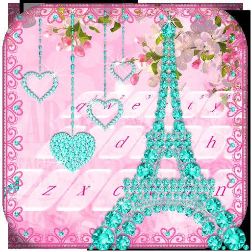 Diamond Eiffel Tower Pink Paris Keyboard Android APK Download Free By ZT.art