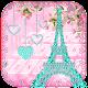 Diamond Eiffel Tower Pink Paris Keyboard (app)