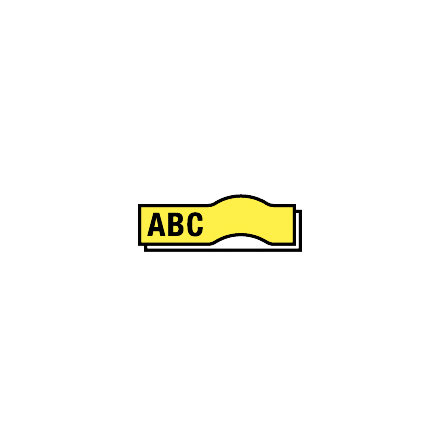 Märkband Flex D1     gul  12mm