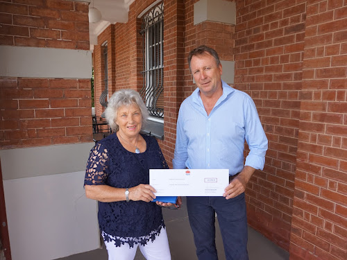 State Member for Barwon Kevin Humphries presents Narrabri Shire Mayor Cathy Redding with the cheque to enable a business case to be completed for a proposed regional training centre.